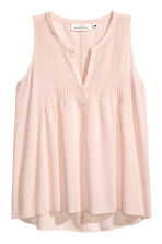 Cotton top with pin-tucks - Powder pink - Ladies | H&M CN 2