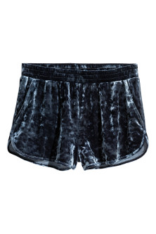 Shorts i nervøs velour