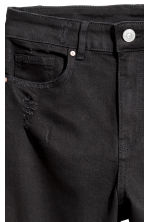 Slim High Trashed Jeans - Nero - DONNA | H&M IT 5