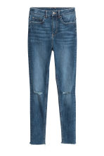 Slim High Trashed Jeans - Denim blue - Ladies | H&M CN 2