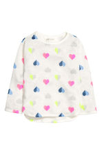 Printed jumper - White/Heart - Kids | H&M 2