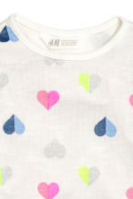 圖案套衫 - White/Heart - Kids | H&M 3
