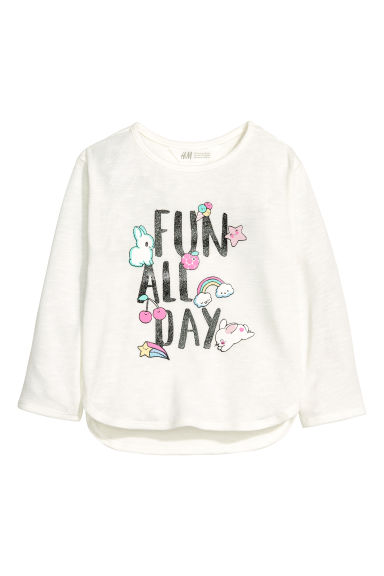 Printed jumper - White - Kids | H&M CA 1