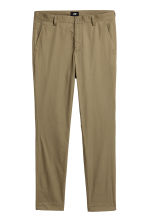 Cotton chinos Slim fit - Khaki green - Men | H&M 2