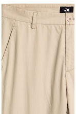 Cotton chinos Slim fit - Beige - Men | H&M 4