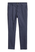 Cotton chinos Slim fit - Dark blue - Men | H&M 2