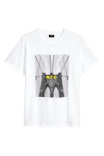 T-shirt with Printed Design - White - Men | H&M CA 2