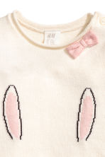 Fine-knit jumper - Natural white/Rabbit - Kids | H&M 2