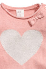Fine-knit jumper - Powder pink/Heart -  | H&M 2