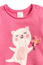Fine-knit Sweater - Pink/bear - Kids | H&M CA 2