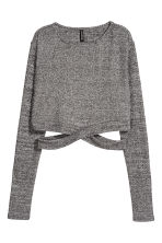 Cropped jumper - Dark grey/Marled - Ladies | H&M 2