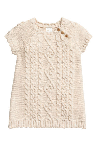 Robe en maille - Beige clair -  | H&M BE
