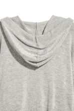 Fine-knit hooded jumper - Grey marl - Ladies | H&M CN 2