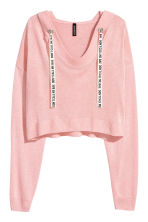 Fine-knit hooded jumper - Light pink - Ladies | H&M IE 1