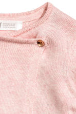 Wrapover cardigan - Light pink marl/Heart - Kids | H&M 4