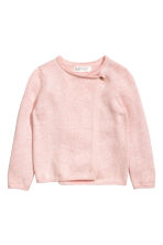 Wrapover cardigan - Light pink marl/Heart - Kids | H&M 2