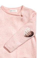 Wrapover cardigan - Light pink marl/Heart - Kids | H&M 3