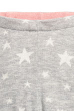 Knitted tights - Light grey/Stars - Kids | H&M GB 2