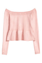 Off-the-shoulder jumper - Light pink - Ladies | H&M 2