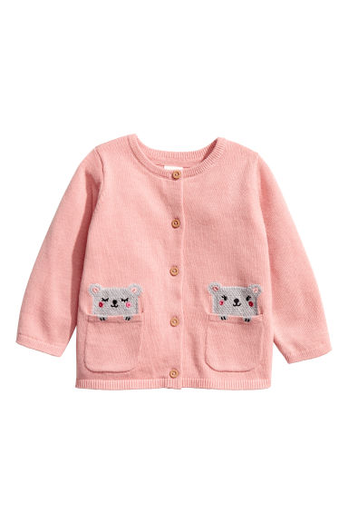 Cotton cardigan - Light pink - Kids | H&M CN