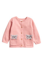 Cotton cardigan - Light pink -  | H&M CN 1