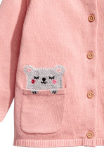 Cotton cardigan - Light pink -  | H&M CN 2