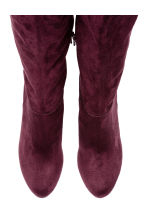 Knee-high boots - Plum - Ladies | H&M 2