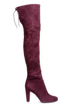 Knee-high boots - Plum - Ladies | H&M 1