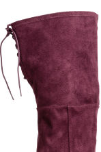 Knee-high boots - Plum - Ladies | H&M 4