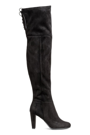 Knee-high boots - Black - Ladies | H&M 1