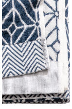 Jacquard-weave bath towel - White/Dark blue - Home All | H&M CN 3