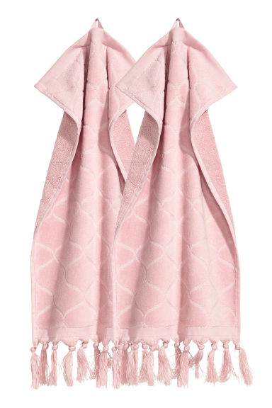 Essuie-mains, lot de 2 - Vieux rose - Home All | H&M FR 1