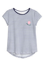 Printed jersey top - White/Dark blue/Striped - Kids | H&M 2