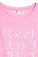 Printed jersey top - Pink - Kids | H&M 3