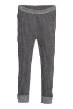 Ribbed leggings - Dark grey marl -  | H&M 2