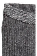 Ribbed leggings - Dark grey marl -  | H&M 3