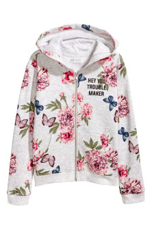 Printed hooded jacket