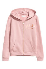 Printed hooded jacket - Dusky pink - Kids | H&M CA 2