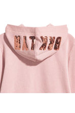 Printed hooded jacket - Dusky pink - Kids | H&M 3