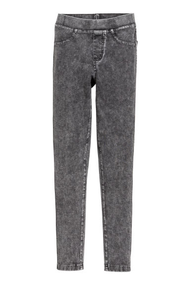 Tricot legging - Zwart washed out -  | H&M BE 1