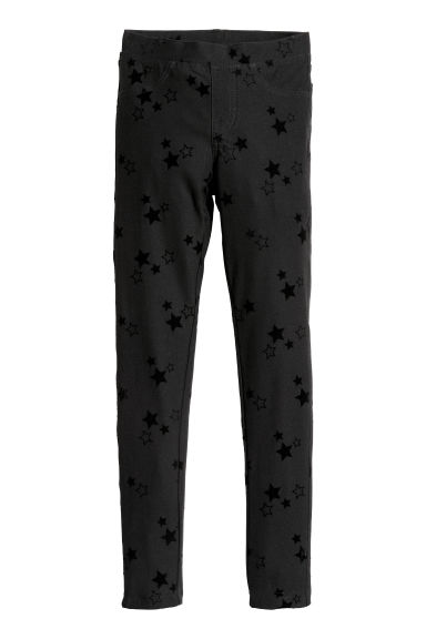 Leggings in jersey - Nero/stelle - BAMBINO | H&M IT