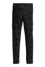 Jersey leggings - Black/Stars - Kids | H&M CN 1