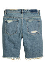 Trashed Denim short - Denimblauw - HEREN | H&M NL 3
