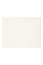 Jacquard-weave bath mat - White - Home All | H&M IE 1