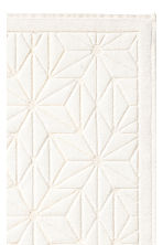 Jacquard-weave bath mat - White - Home All | H&M IE 2