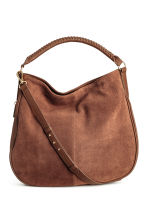 Hobo bag with suede details - Brown - Ladies | H&M 1