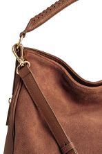 Hobo bag with suede details - Brown - Ladies | H&M CN 3