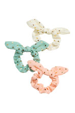 3-pack scrunchies - Turquoise/Spotted - Kids | H&M 1