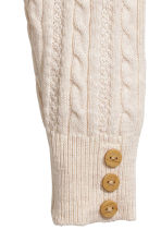 Knitted leggings - Light beige -  | H&M CN 2