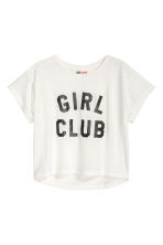 Burnout-patterned top - White - Kids | H&M 2